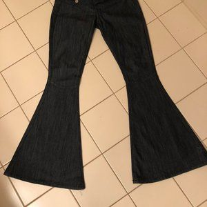 Very wide flare jeans